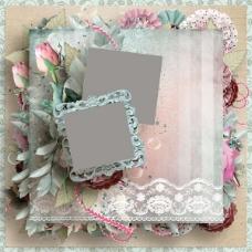 玫瑰花朵剪贴相框