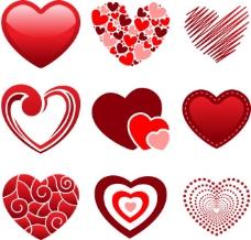 创意情人节爱心设计矢量图