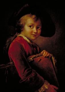 油画卖火柴的小女孩图片