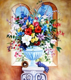 手绘油画图片