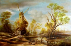 油画 中世纪风景图片