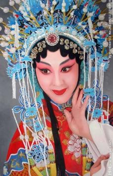 京剧油画人物图片