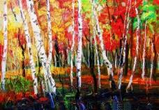白桦林之秋图片