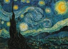 梵高绘画星夜图片