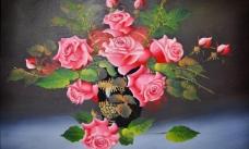 油画 无框画 花卉 装饰画 高清图片