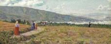 农田油画图片