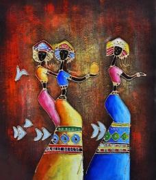 油画 抽象 装饰画 高清 人物图片