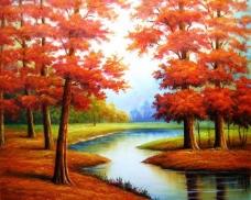 红树林油画图片