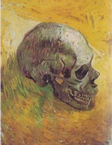 油画 梵高 头骨图片