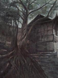 油画 五凤镇 送子树图片