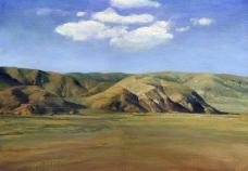 草原 风景 油画图片