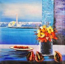 无框画 花卉 装饰画 高清 油画图片