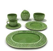 茶杯 杯墊 餐具模型圖片