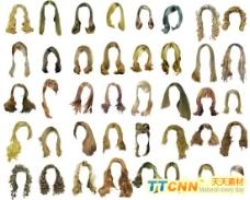 多款美女长发型模板