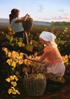 Western-238高清西方现代人物油画国外油画大师人物油画作品
