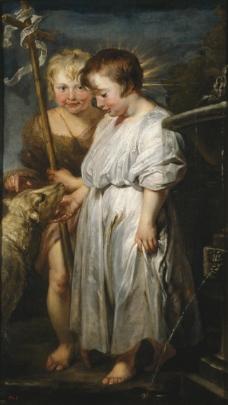 Rubens, Peter Paul_ Dyck, Anton van - Jesus con San Juanito y el Cordero, 1618-20英国画家安东尼凡戴克Anthony v