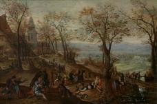 Pieter Stevens II - Country Fair大师画家古典画古典建筑古典景物装饰画油画