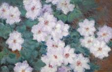 Claude Monet - Clematises, 1887法国画家克劳德.莫奈oscar claude Monet风景油画装饰画
