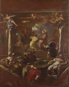 Luca Giordano - Saint Anthony of Padua restores the Foot of a Man意大利画家卢卡焦尔达诺Fa Presto人物油画装饰画