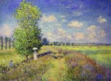 The Summer, Poppy Field, 1875法国画家克劳德.莫奈oscar claude Monet风景油画装饰画