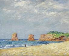 Francis Picabia - Twin Rocks at Hendaye, 1907大师画家风景画静物油画建筑油画装饰画