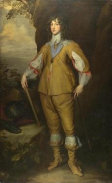 Studio of Anthony van Dyck - Prince Charles Louis, Count Palatine英国画家安东尼凡戴克Anthony van dyck人物油画装饰画