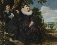 花园中的一对夫妻图片