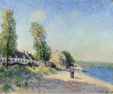 Alfred Sisley - Saint-Mammes at Morning, 1885.jpeg大师画家风景画静物油画建筑油画装饰画