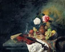 8500 (12)静物花卉油画超写实主义油画静物