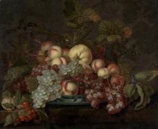 鑽峰叞鐢诲Bartholomeus Abrahamsz Assteyn浣滃搧水果疏菜静物油画超写实主义油画静物