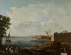 Sanchez, Mariano Ramon - Vista del Puerto de Santa Maria, 1781-85大师画家古典画古典建筑古典景物装饰画油画