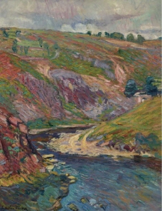 Emile-Othon Friesz - Landscape of Creuse.jpeg大师画家风景画静物油画建筑油画装饰画