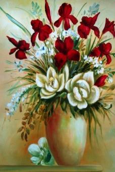 闈欑墿鑺卞崏831 (177)静物花卉油画超写实主义油画静物