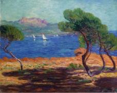 Leon Detroy - Landscape of Agay大师画家风景画静物油画建筑油画装饰画