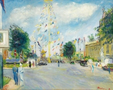 Lucien Adrion - International Exposition of 1937, Paris, 1937大师画家风景画静物油画建筑油画装饰画