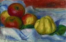 Pierre Auguste Renoir - Still Life with Apples and Quince法国画家皮埃尔奥古斯特雷诺阿Pierre Auguste Renoir印象派人物油画