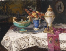 闈欑墿鍣ㄧ墿901 (45)实物杯子罐子器皿静物印象画派写实主义油画装饰画