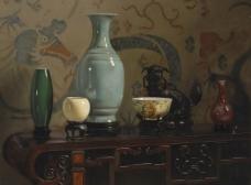 闈欑墿鍣ㄧ墿901 (34)实物杯子罐子器皿静物印象画派写实主义油画装饰画