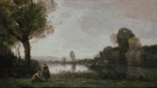 Jean-Baptiste Camille Corot - La Seine a Chatou大师画家古典画古典建筑古典景物装饰画油画