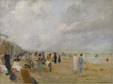 Ernst Oppler - At the Beach.jpeg大师画家风景画静物油画建筑油画装饰画