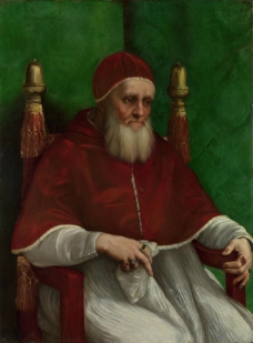 Raphael  Portrait of Pope Julius II意大利画家拉斐尔Raphael古典人物油画装饰画