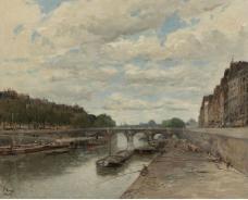 Frank Myers Boggs - Pont Neuf, 1896大师画家风景画静物油画建筑油画装饰画