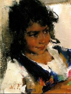 Western-480高清西方现代人物油画国外油画大师人物油画作品