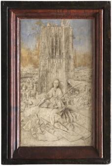 Jan Van Eyck - Saint Barbara大师画家古典画古典建筑古典景物装饰画油画