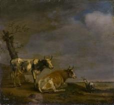 Potter, Paulus - En el prado, 1652大师画家古典画古典建筑古典景物装饰画油画