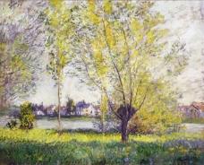The Willows, 1880法国画家克劳德.莫奈oscar claude Monet风景油画装饰画
