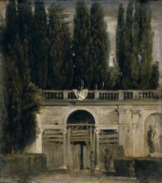 Velazquez, Diego Rodriguez de Silva y - The Medici Gardens in Rome, Ca. 1630大师画家古典画古典建筑古典景物装饰画油画