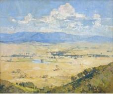 Arthur Streeton - Melba`s Country, 1936大师画家风景画静物油画建筑油画装饰画