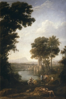 Lorraine, Claude - Moses saved from the waters of the Nile, 1639-40大师画家古典画古典建筑古典景物装饰画油画