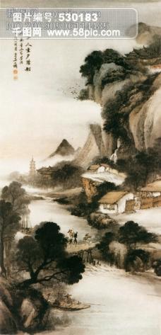 Haes, Carlos de - Tile Factories on Principe Pio Hill, Ca. 1872大师画家古典画古典建筑古典景物装饰画油画